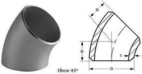 45 Degree Long Radius Elbow Pipe Fitting Supplier