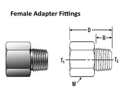 Female Adapter Compression Tube Fittings