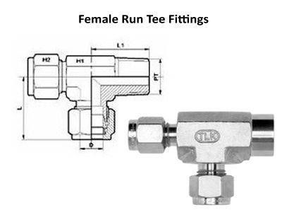 Female Run Tee Compression Tube Fittings