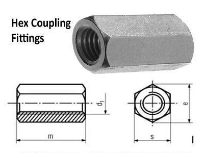 Hex Coupling Compression Tube Fittings