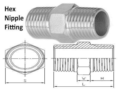 Hex Nipple Compression Tube Fittings Supplier Manufacturer
