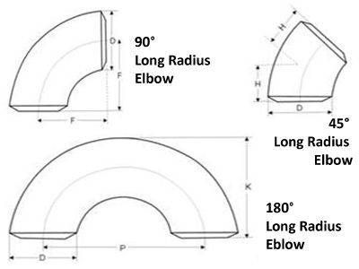 45° Long Radius Elbow ASME B16.5
