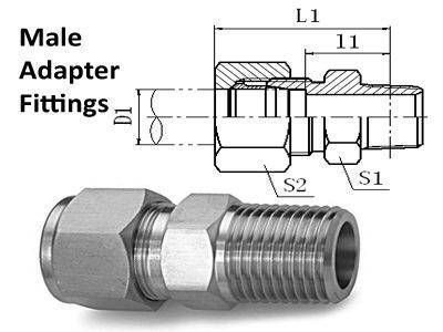 Male Adapter Compression Tube Fittings