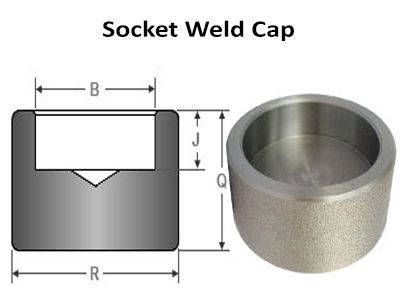 Socket Weld Cap - ASME B16.11, BS 3799