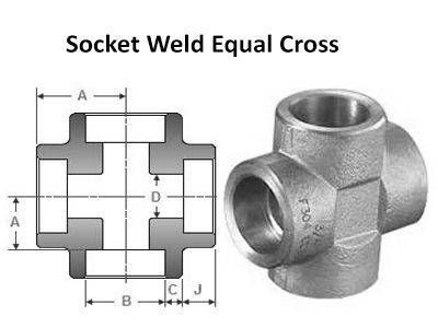 Socket Weld Cross - ASME B16.11, BS 3799