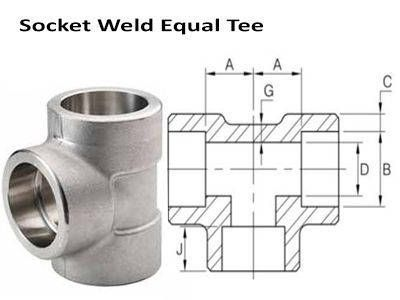 Socket Weld Tee - ASME B16.11, BS 3799
