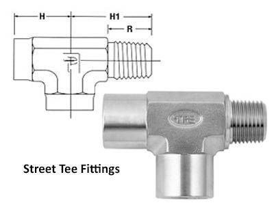 Street Tee Compression Tube Fittings