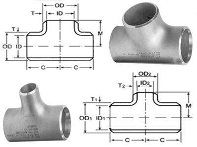 Equal Tee Pipe Fitting ASME B16.5